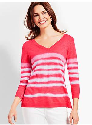 Talbots Tie-Dye V-Neck Sweater