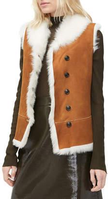 UGG Renee Reversible Vest in Shearling