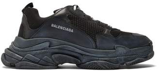 Balenciaga Triple S Low Top Trainers - Mens - Black