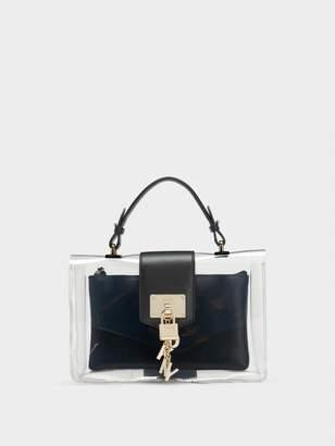 DKNY Elissa Clear Flap Shoulder Bag