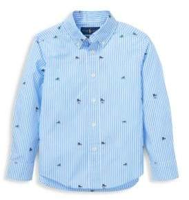 Ralph Lauren Little Boy's Sneaker Stripe Poplin Shirt