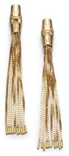 Gucci Bamboo 18K Yellow Gold Tassel Earrings