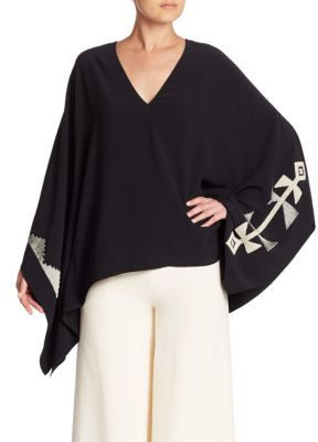 Ralph Lauren Collection Filipa Embroidered Poncho Top $1,990 thestylecure.com