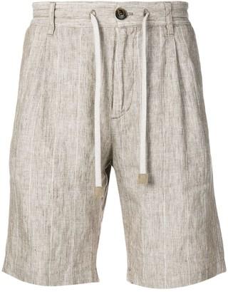 Eleventy striped drawstring shorts