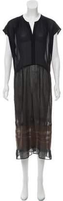 Pas De Calais Maxi Cap Sleeve Dress w/ Tags