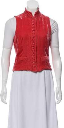 Ralph Lauren Velvet Button-Up Vest