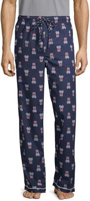 Psycho Bunny Lounge Printed Woven Cotton Pajama Pants