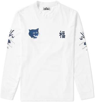 Blue Blue Japan Long Sleeve Fuku-Tora-Ryu Tee