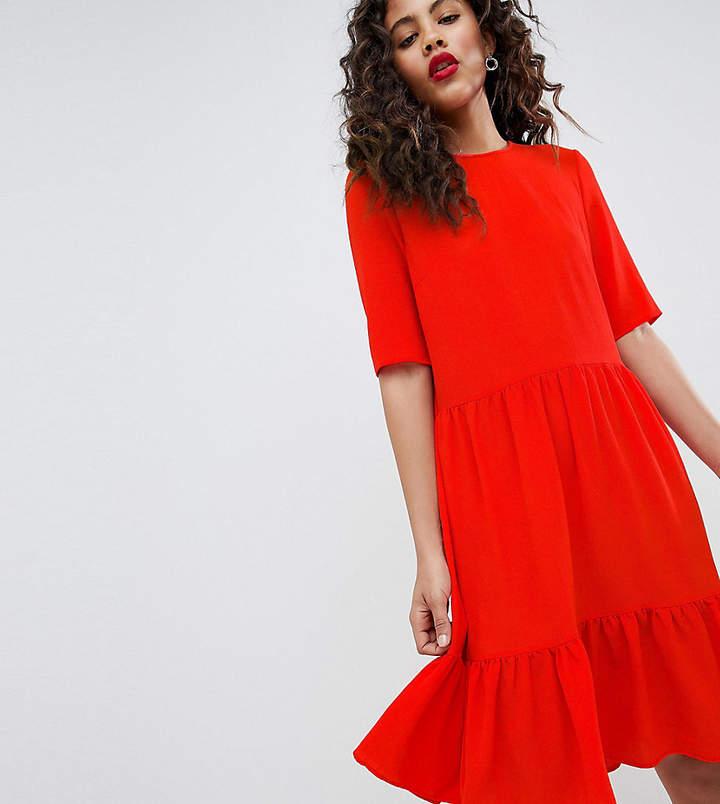 Y.A.S Tall Sadur Tiered Shift Dress