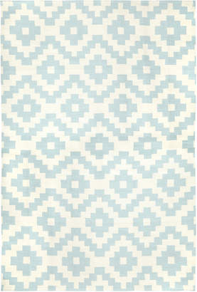 Jonathan Adler Light Blue Pierre Reversible Peruvian Flat Weave Rug