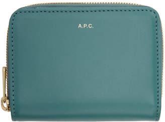 A.P.C. Blue Emmanuelle Compact Wallet