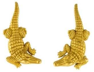 1bf9fed8fea Kieselstein-Cord 18K Alligator Clip-on Earrings