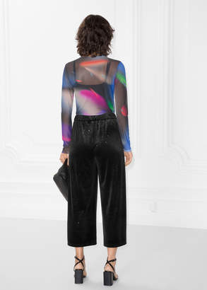 Sparkling Velour Trousers