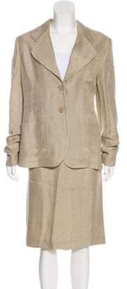 Prada Tweed Knee-Length Skirt Suit