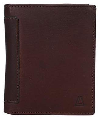 Leather Architect Men's 100% Leather RFID Blocking Classic Trifold Wallet With 18 Credit Card Slots ()