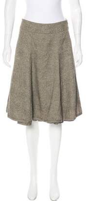 Akris Punto Tweed Knee-Length Skirt