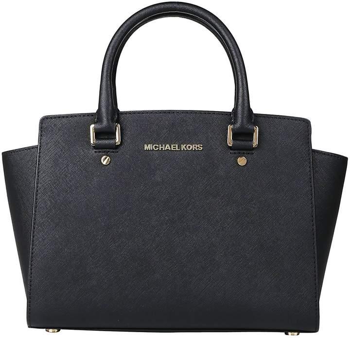 Michael Kors Selma Satchel Shoulder Bag - BLACK - STYLE