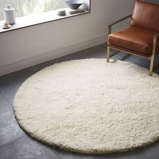 west elm Darby Wool Shag Rug - Round