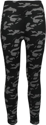 Monrow Printed Stretch-jersey Leggings