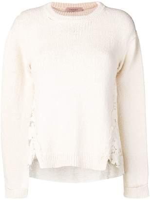 Twin-Set lace insert sweater