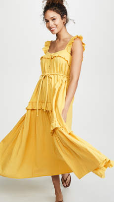 Apiece Apart Lypie Ruffle Tank Dress