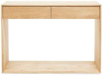 Ethnicraft 2-Drawer Oak Console