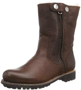 Blackstone Women's HIGH ZIPPERBOOT FUR Biker Boots Brown Size: