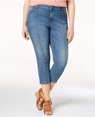Style&Co. Style & Co Plus Size Seamed Capri Jeans, Created for Macy's