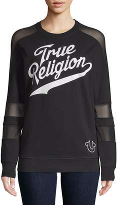 True Religion Women's Graphic Long-Sleeve Pullover