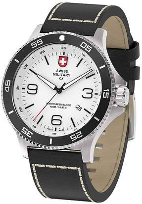 Swiss Military BY CHARMEX By Charmex Infantry Mens Black Leather Strap Watch-78344_5_E