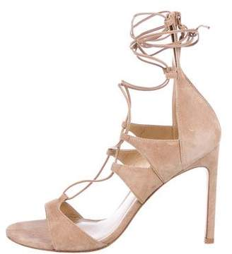 Stuart Weitzman Suede Lace-Up Sandals