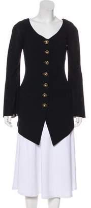 Donna Karan Wool Button Up Blazer