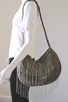J.J Winters Fringe Silver Chain Bag