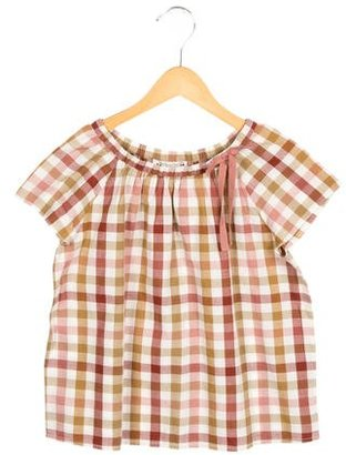 Bonpoint Girls' Bow-Accented Plaid Top $45 thestylecure.com
