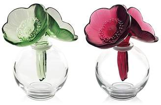 Lalique Anemone Perfume Holder, Red