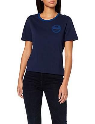 af699f2a Superdry Women's Vintage Logo Heritage Entry Tee T-Shirt, (Dazzling Blue  Bdt)