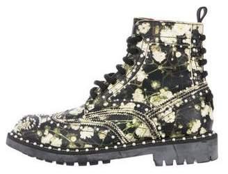 Givenchy Embellished Floral Print Boots
