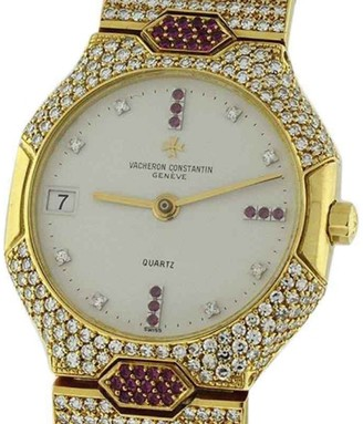 Vacheron Constantin Classique 18K Yellow Gold 32mm Womens Watch $37,475 thestylecure.com