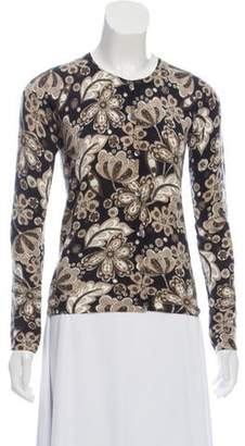 TSE Cashmere Floral Print Cardigan