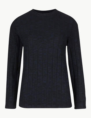 Marks and Spencer Textured Cosy Long Sleeve Sweatshirt