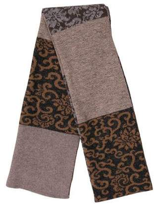 Barneys New York Barney's New York Printed Knit Scarf