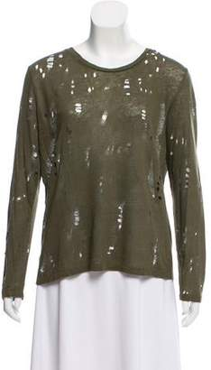 IRO Distressed Long Sleeve Top