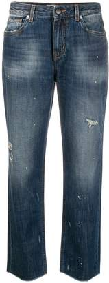 PT05 distressed boot cut jeans