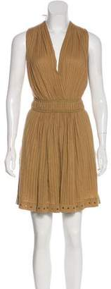 Etoile Isabel Marant Grommet-Accented Sleeveless Knee-Length Dress