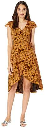 BB Dakota Pending Leopard Print Wrap Dress
