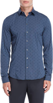 Patrizia Pepe Pete Printed Slim Fit Shirt