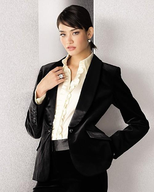 Sutton Studio Exclusive Shawl Collar Jacket - Misses'