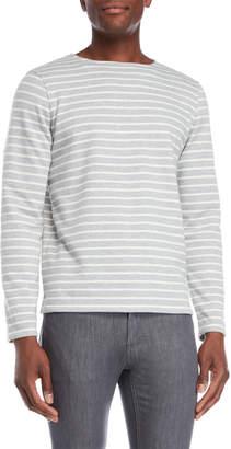Barque Grey Stripe Terry Pullover