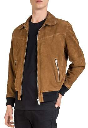 The Kooples Suede Leather Jacket