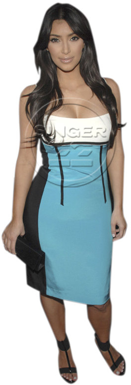 Jay Godfrey Carmella Colorblock Tank Dress as seen on Kim Kardashian